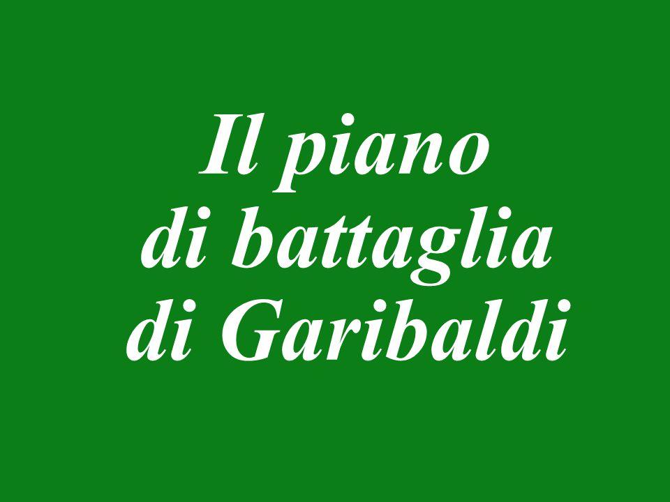 Il piano di battaglia di Garibaldi