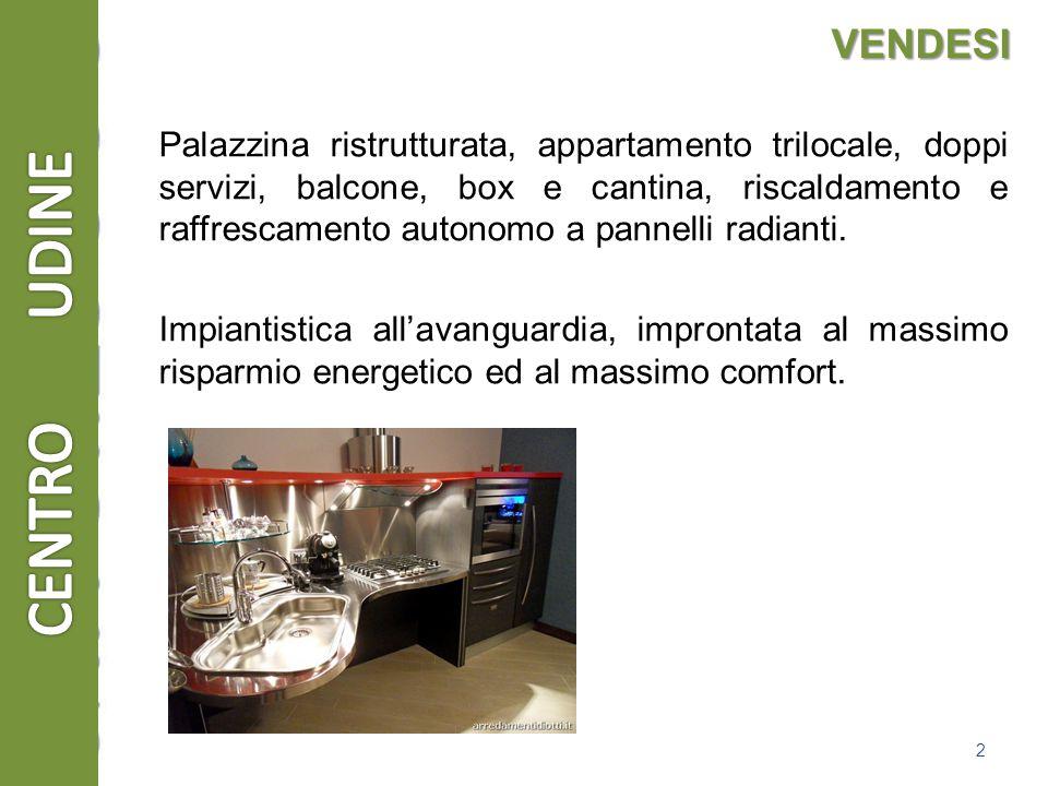 VENDESI Palazzina ristrutturata, appartamento trilocale, doppi servizi, balcone, box e cantina, riscaldamento e raffrescamento autonomo a pannelli radianti.