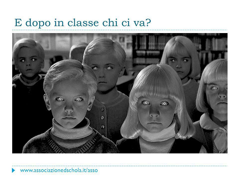 E dopo in classe chi ci va? www.associazionedschola.it/asso