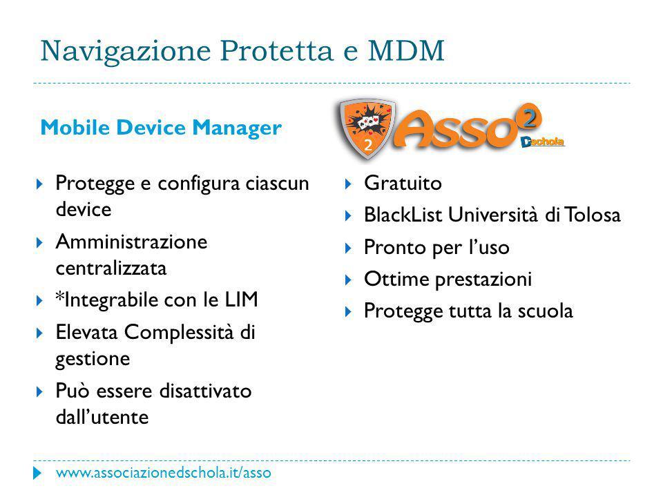 Navigazione Protetta e MDM Mobile Device Manager  Gratuito  BlackList Università di Tolosa  Pronto per l'uso  Ottime prestazioni  Protegge tutta