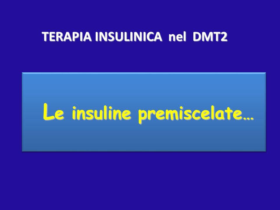 L e insuline premiscelate… L e insuline premiscelate… TERAPIA INSULINICA nel DMT2