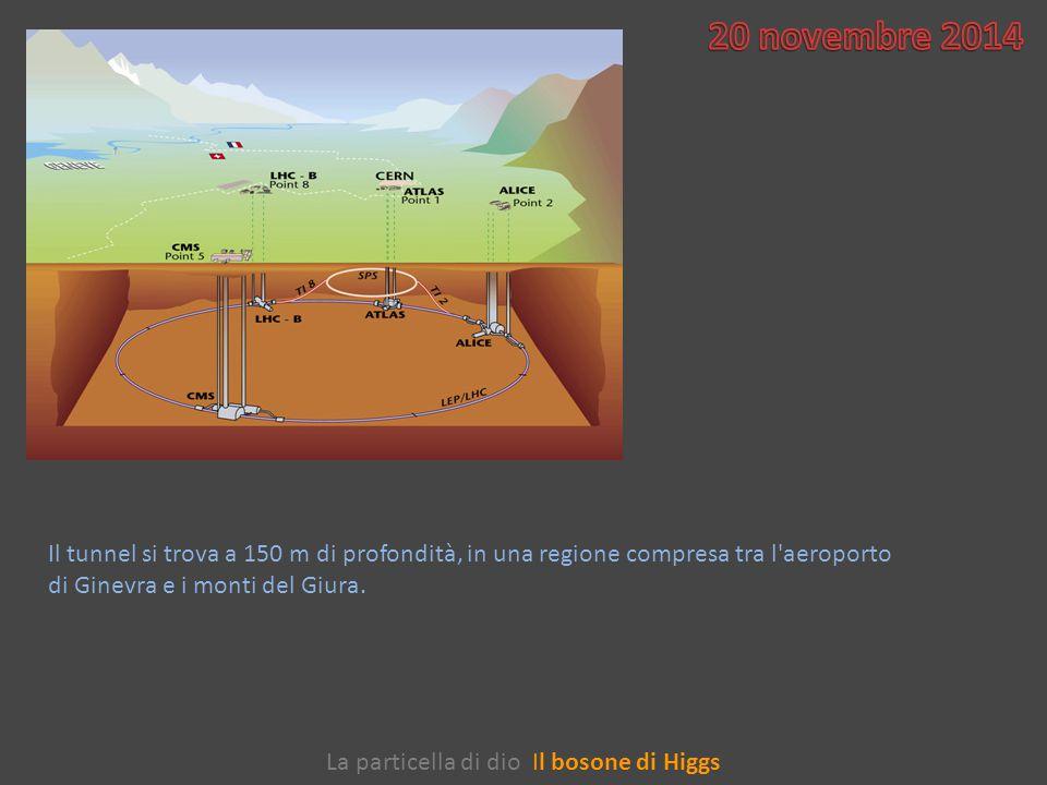 Il tunnel si trova a 150 m di profondità, in una regione compresa tra l aeroporto di Ginevra e i monti del Giura.