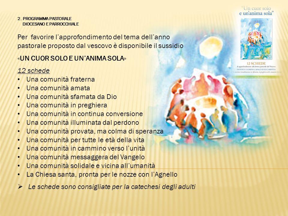 2. PROGRAMMA PASTORALE DIOCESANO E PARROCCHIALE Per favorire l'approfondimento del tema dell'anno pastorale proposto dal vescovo è disponibile il suss