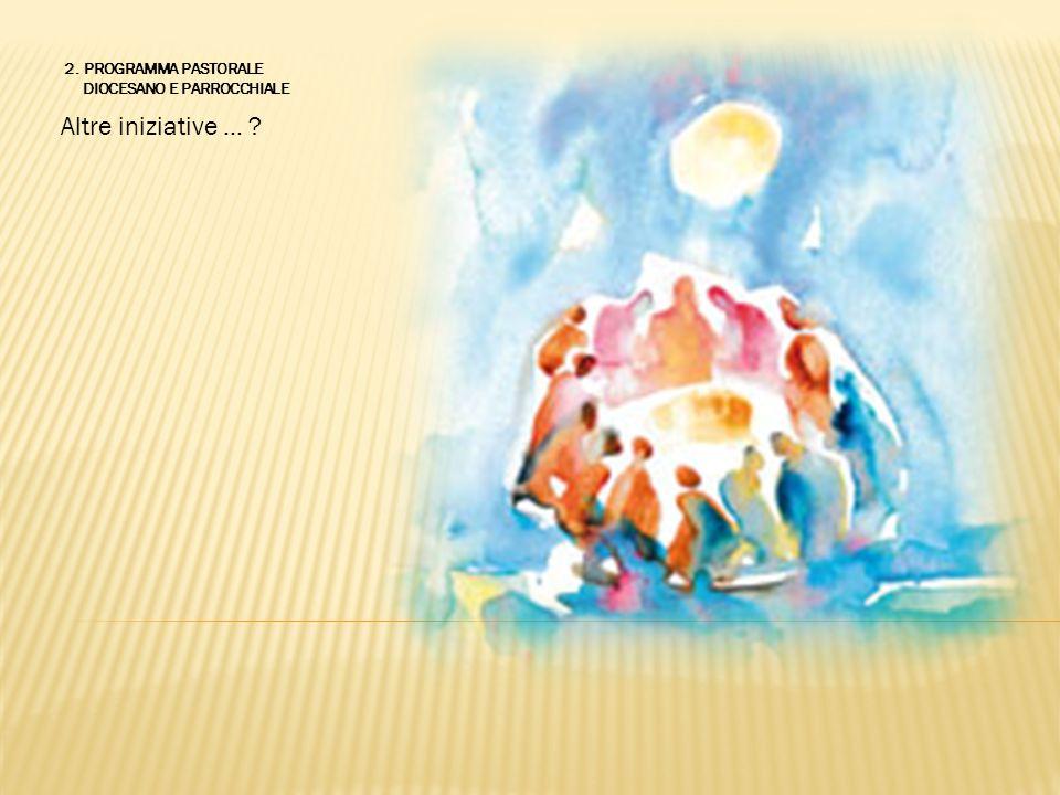 Altre iniziative … ? 2. PROGRAMMA PASTORALE DIOCESANO E PARROCCHIALE