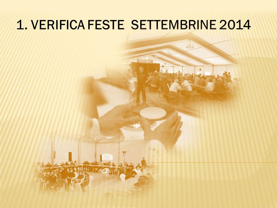 1. VERIFICA FESTE SETTEMBRINE 2014