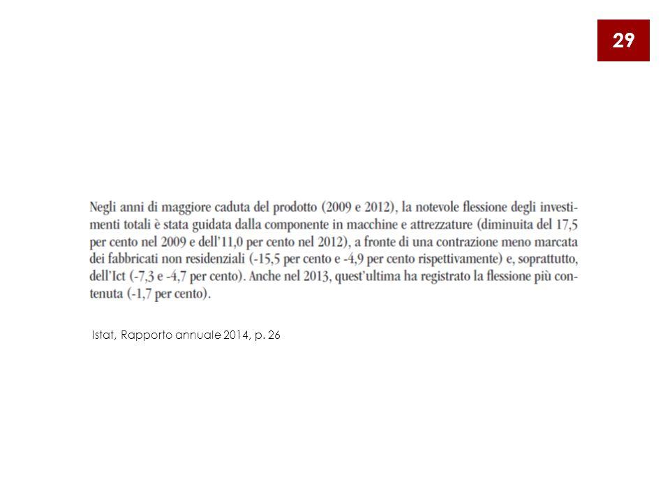 29 Istat, Rapporto annuale 2014, p. 26
