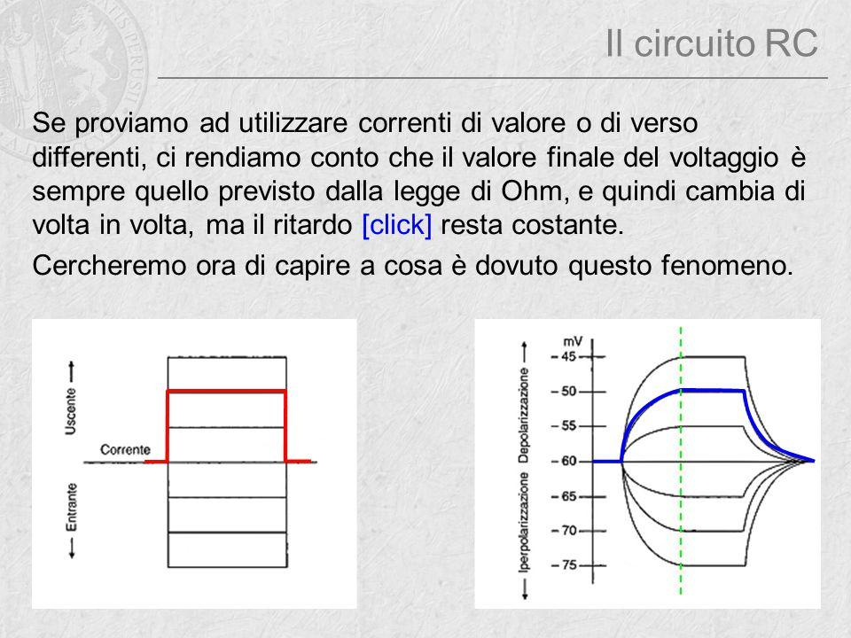 Se proviamo ad utilizzare correnti di valore o di verso differenti, ci rendiamo conto che il valore finale del voltaggio è sempre quello previsto dall