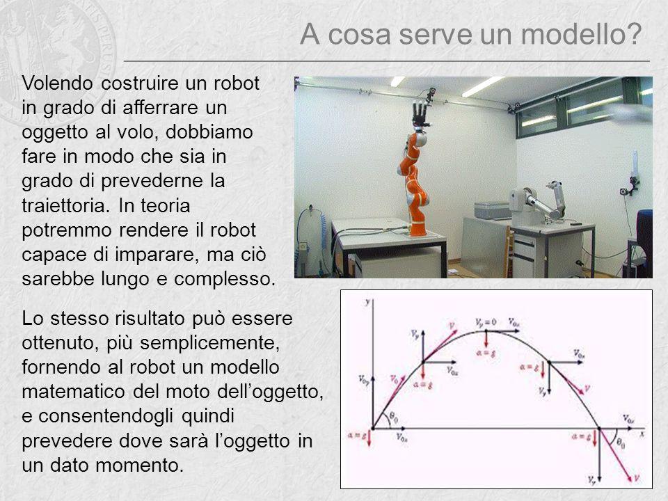 A cosa serve un modello? Volendo costruire un robot in grado di afferrare un oggetto al volo, dobbiamo fare in modo che sia in grado di prevederne la