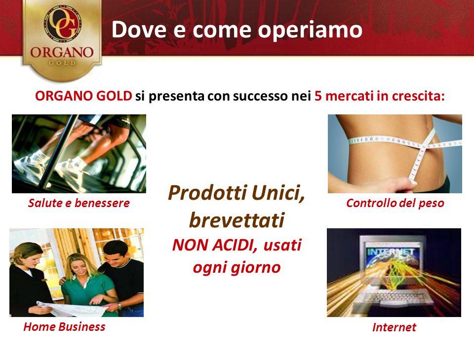 Salute e benessere Home Business Controllo del peso Internet ORGANO GOLD si presenta con successo nei 5 mercati in crescita: 5 mercati potenti Prodott