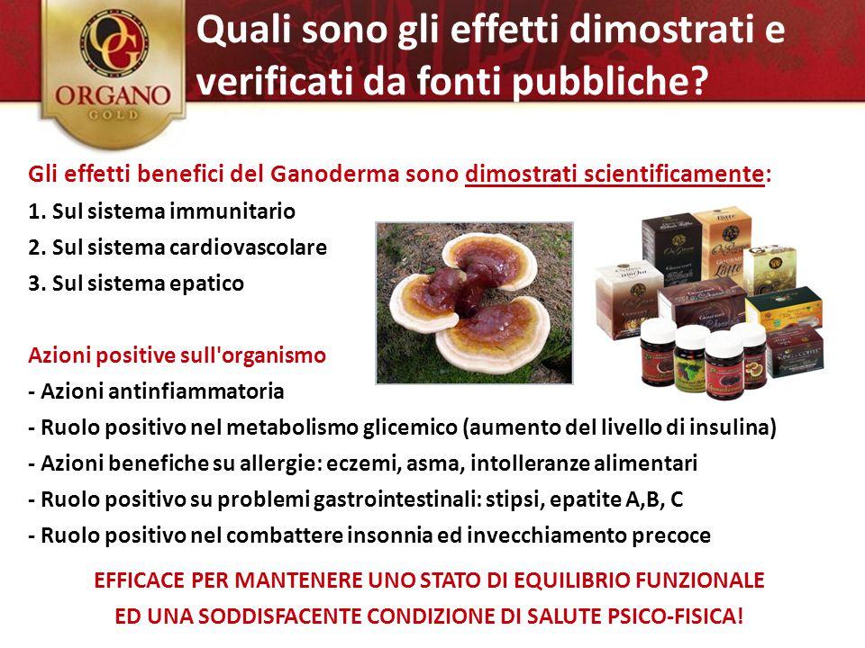 Ganoderma Lucidum Reishi – Ling Zhi Gli effetti benefici del Ganoderma sono dimostrati scientificamente: 1. Sul sistema immunitario 2. Sul sistema car