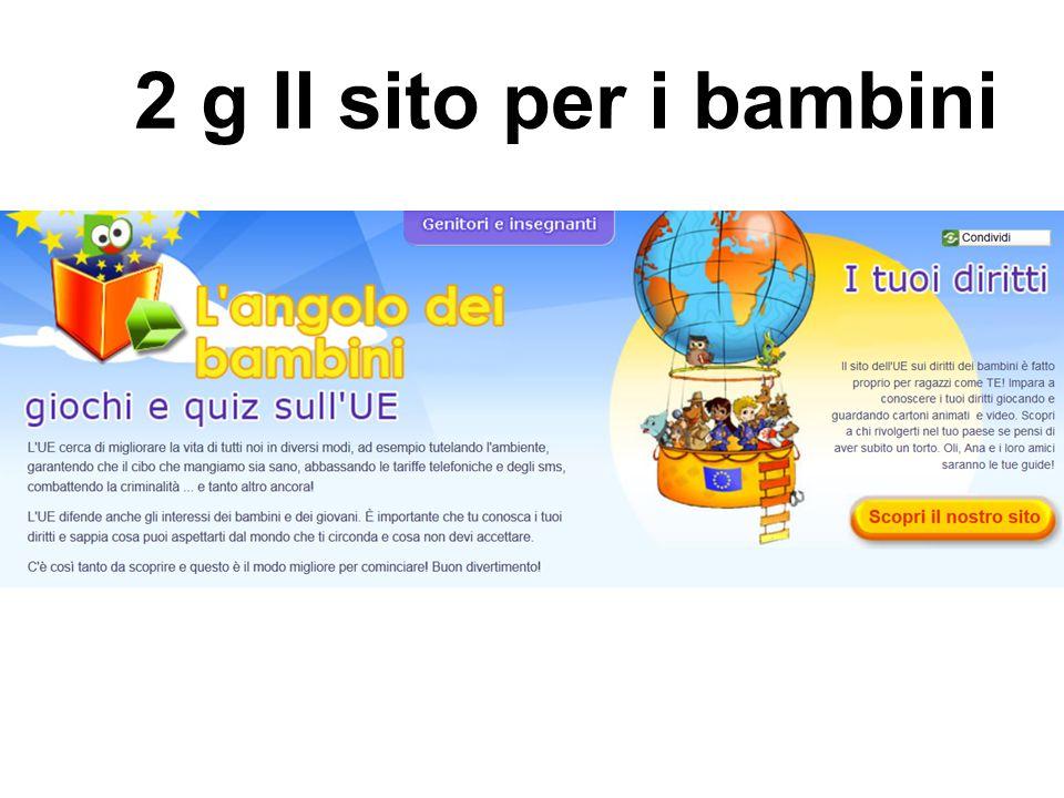 2 g Il sito per i bambini
