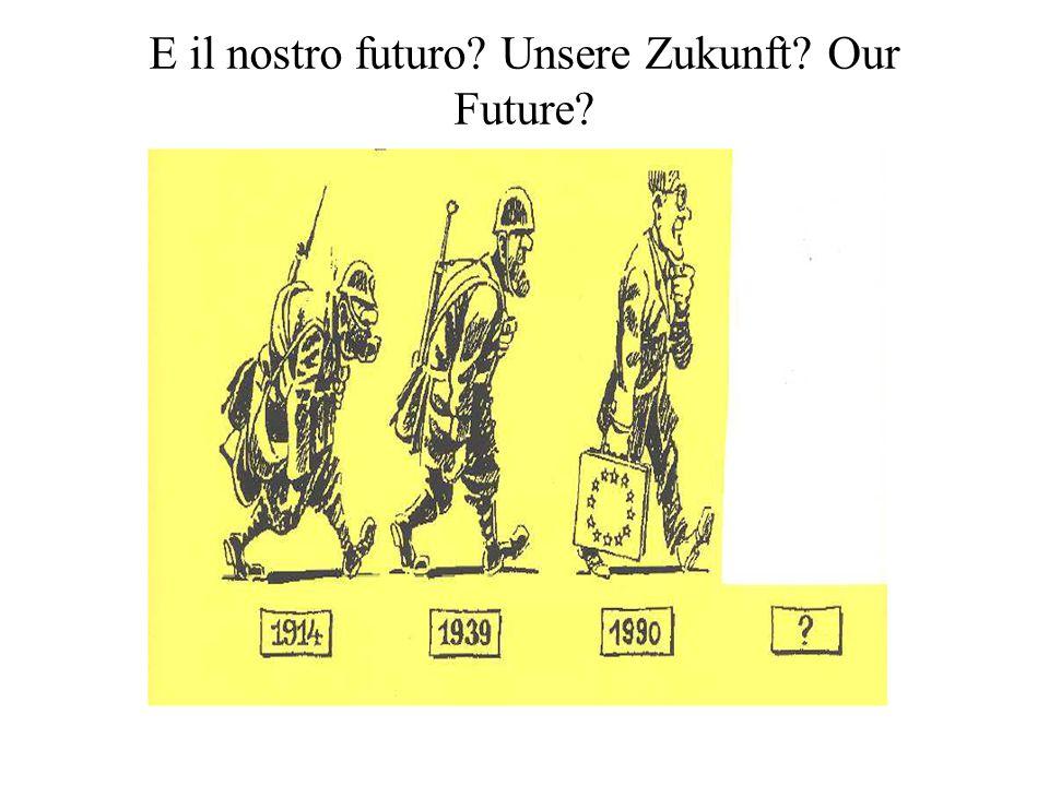 E il nostro futuro? Unsere Zukunft? Our Future?