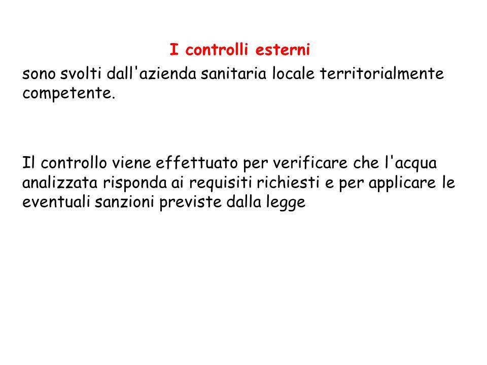 I controlli esterni sono svolti dall azienda sanitaria locale territorialmente competente.