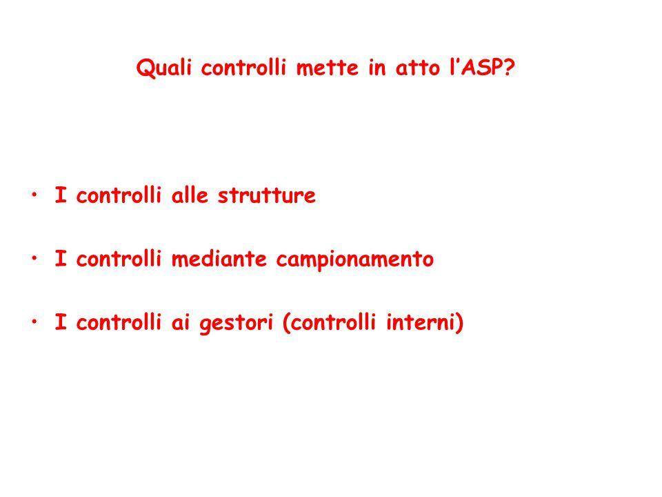 Quali controlli mette in atto l'ASP.