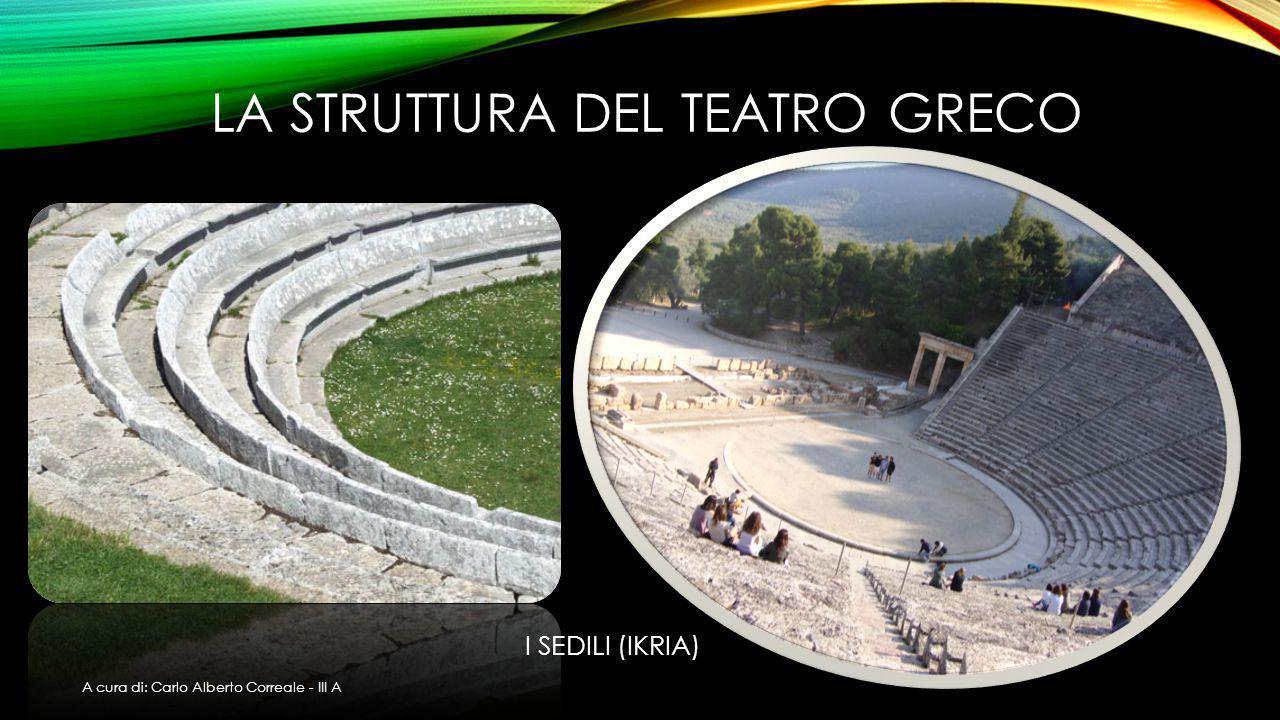LA STRUTTURA DEL TEATRO GRECO I SEDILI (IKRIA) A cura di: Carlo Alberto Correale - III A