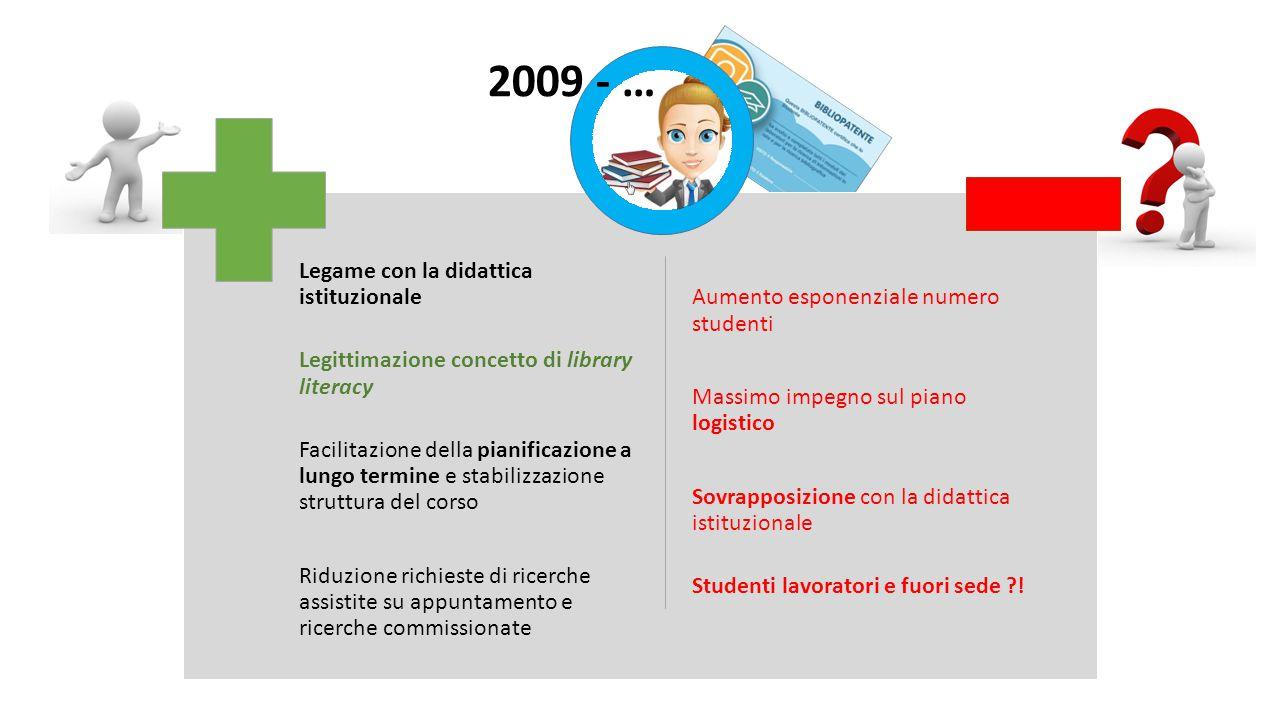 Università di Parma Biblioteca di Lingue e letterature Straniere La Biblioteca di Lingue e l'Ufficio Reference (2007) 2009  Delibera CCS: attività di