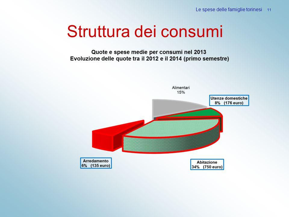Struttura dei consumi Le spese delle famiglie torinesi 11