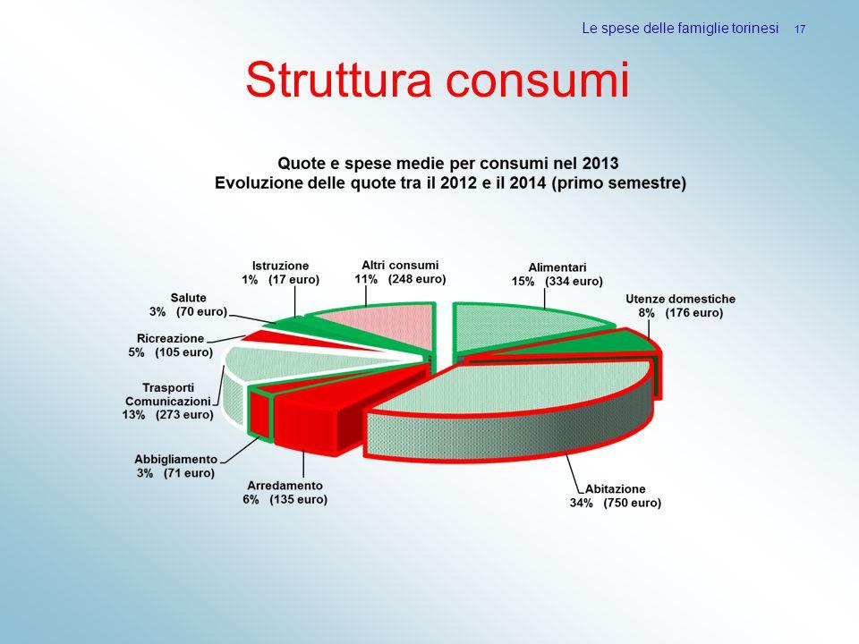 Struttura consumi Le spese delle famiglie torinesi 17