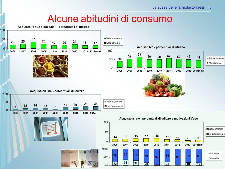 Camera di commercio di Torino Le spese delle famiglie torinesi 19 Alcune abitudini di consumo