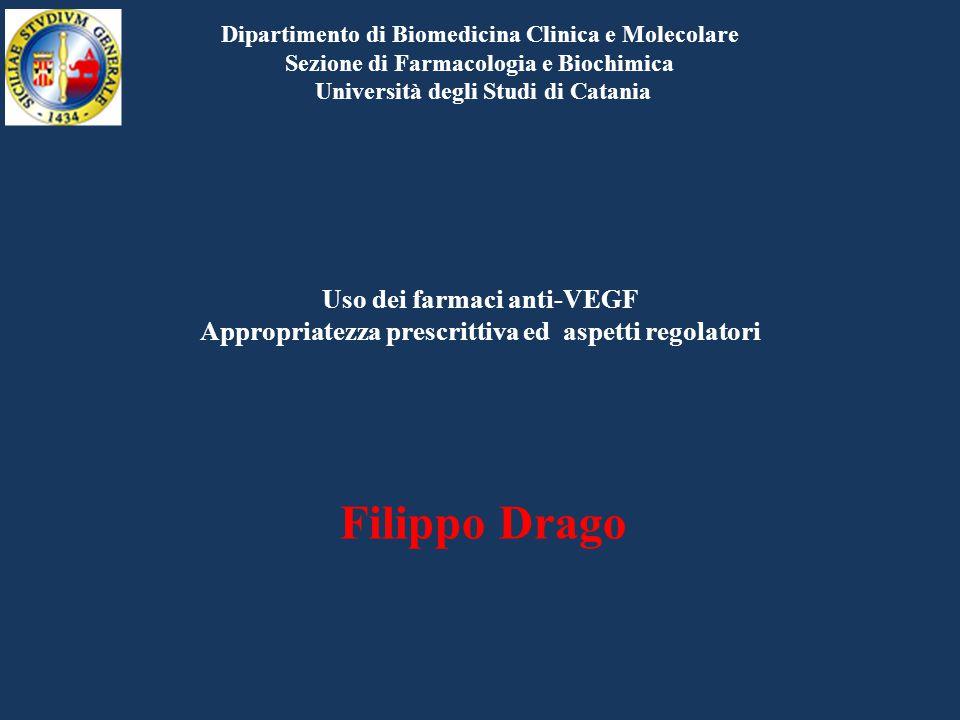 Uso dei farmaci anti-VEGF Appropriatezza prescrittiva ed aspetti regolatori Filippo Drago Dipartimento di Biomedicina Clinica e Molecolare Sezione di