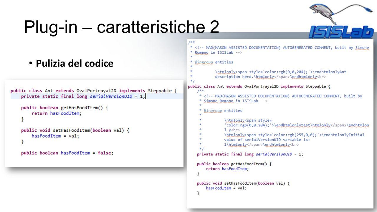 Pulizia del codice Plug-in – caratteristiche 2