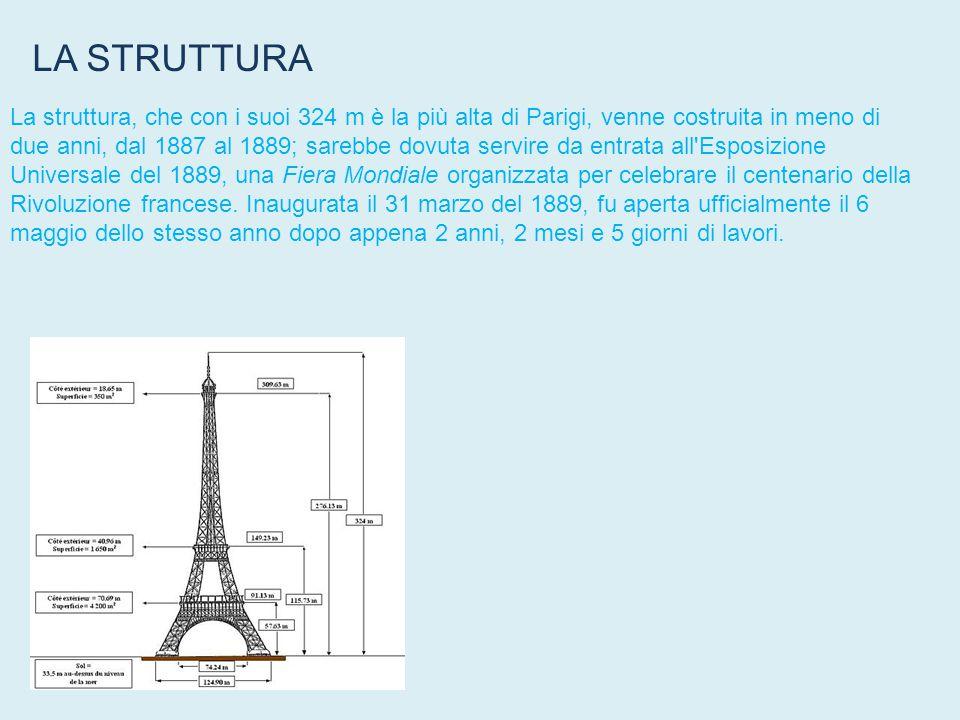 La Torre Eiffel è, il monumento più famoso di Parigi ed è conosciuta in tutto il mondo come simbolo della città stessa e della Francia.