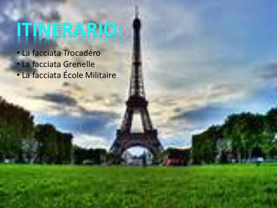 LA STRUTTURA La struttura, che con i suoi 324 m è la più alta di Parigi, venne costruita in meno di due anni, dal 1887 al 1889; sarebbe dovuta servire da entrata all Esposizione Universale del 1889, una Fiera Mondiale organizzata per celebrare il centenario della Rivoluzione francese.