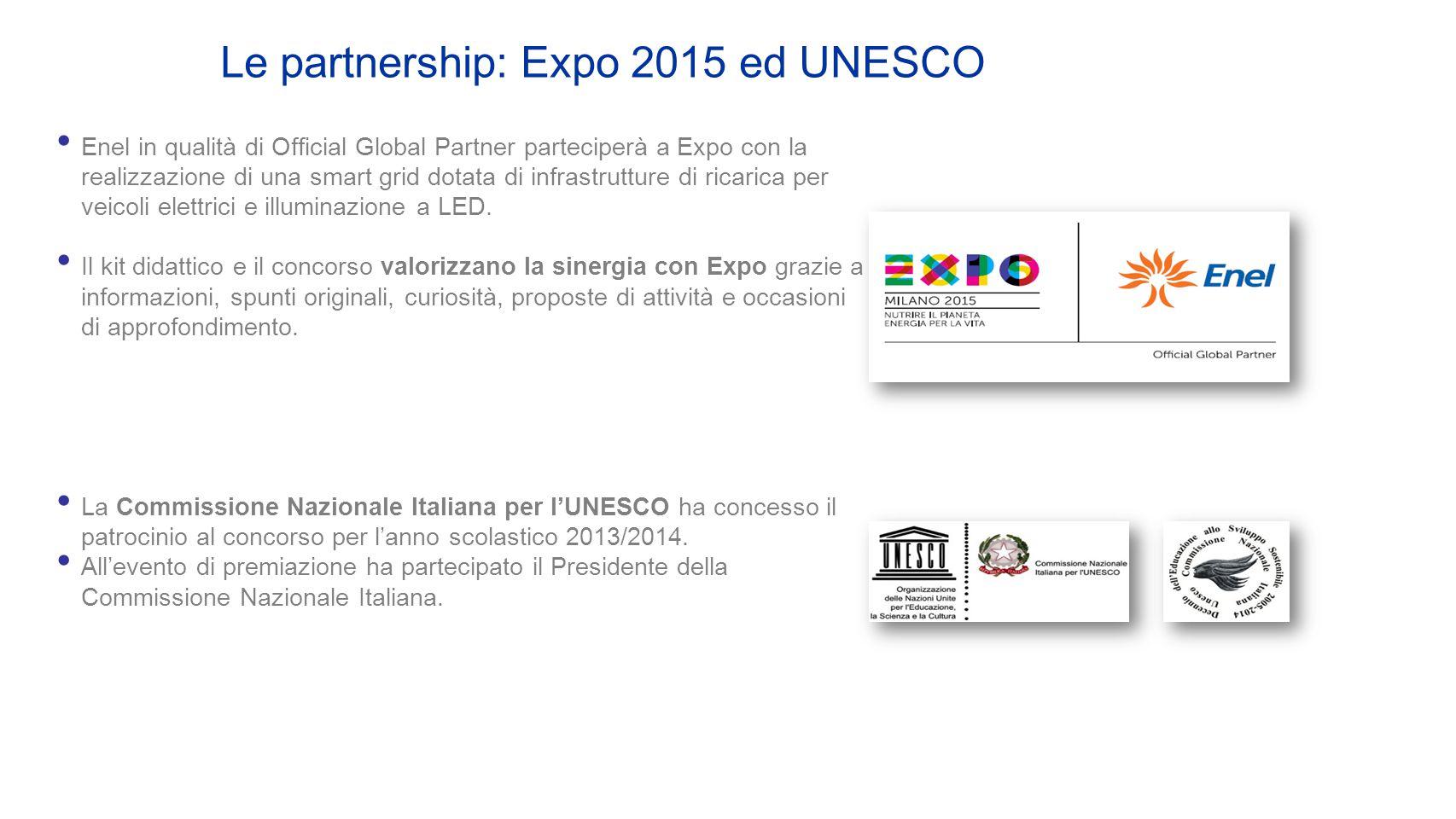 Enel in qualità di Official Global Partner parteciperà a Expo con la realizzazione di una smart grid dotata di infrastrutture di ricarica per veicoli elettrici e illuminazione a LED.