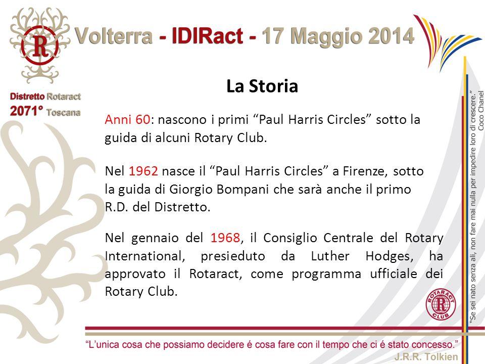 """La Storia Anni 60: nascono i primi """"Paul Harris Circles"""" sotto la guida di alcuni Rotary Club. Nel 1962 nasce il """"Paul Harris Circles"""" a Firenze, sott"""