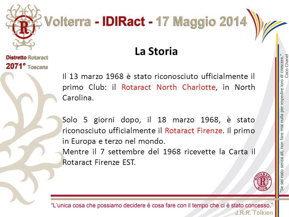 La Storia Solo 5 giorni dopo, il 18 marzo 1968, è stato riconosciuto ufficialmente il Rotaract Firenze. Il primo in Europa e terzo nel mondo. Mentre i