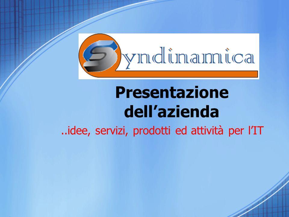 Presentazione dell'azienda..idee, servizi, prodotti ed attività per l'IT