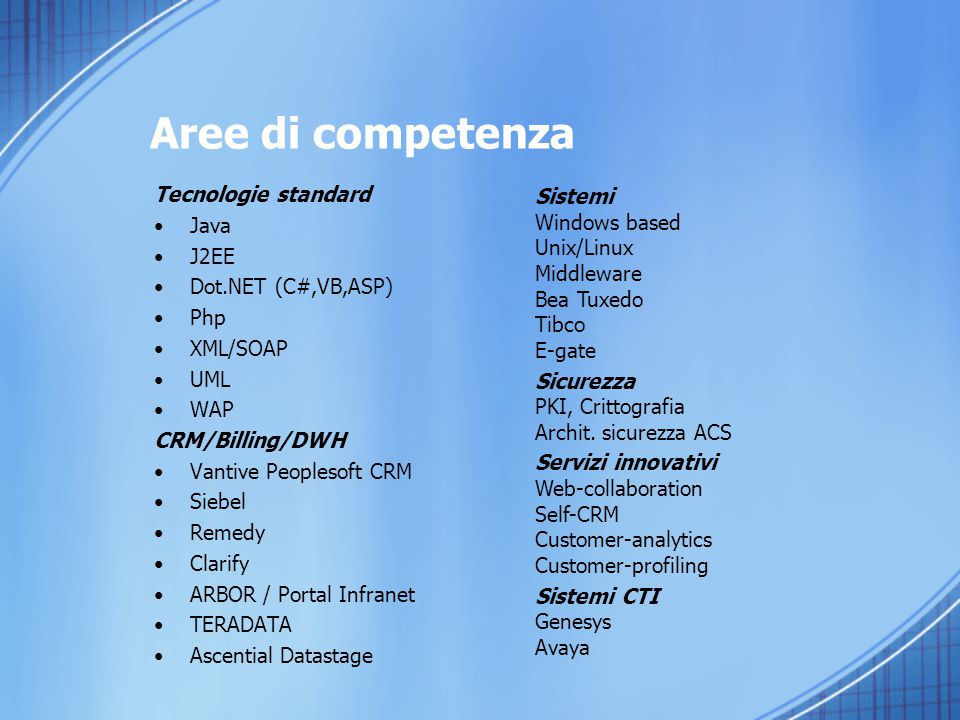 I Clienti/partners Comando Arma dei Carabinieri Engineering IT S.p.a.