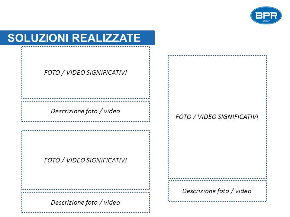 SOLUZIONI REALIZZATE FOTO / VIDEO SIGNIFICATIVI Descrizione foto / video