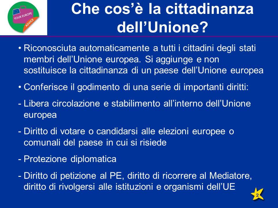 Diritto alla libera circolazione E' uno dei vantaggi più tangibili dell'Unione europea.