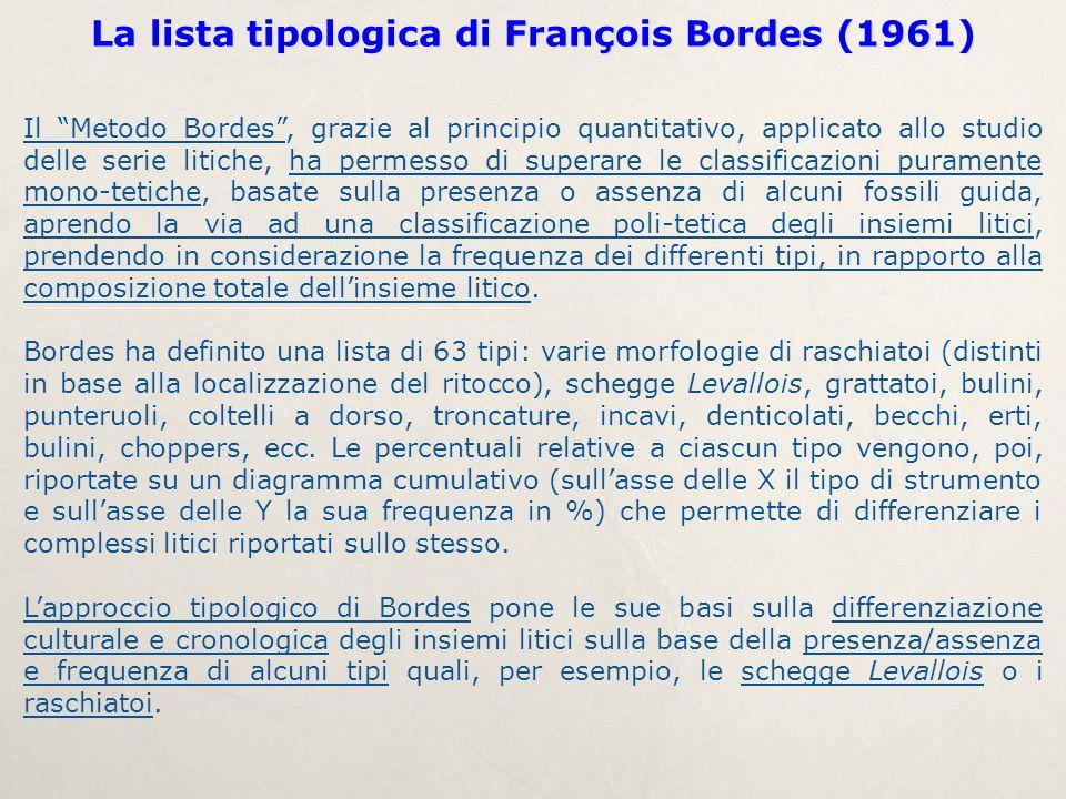 """Il """"Metodo Bordes"""", grazie al principio quantitativo, applicato allo studio delle serie litiche, ha permesso di superare le classificazioni puramente"""