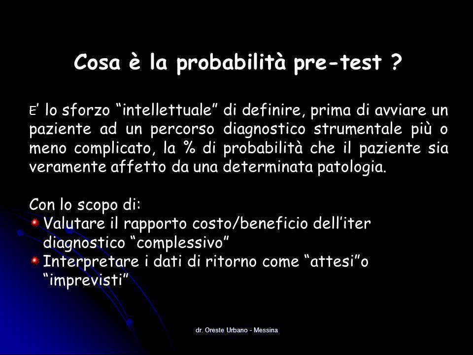 Cosa è la probabilità pre-test .