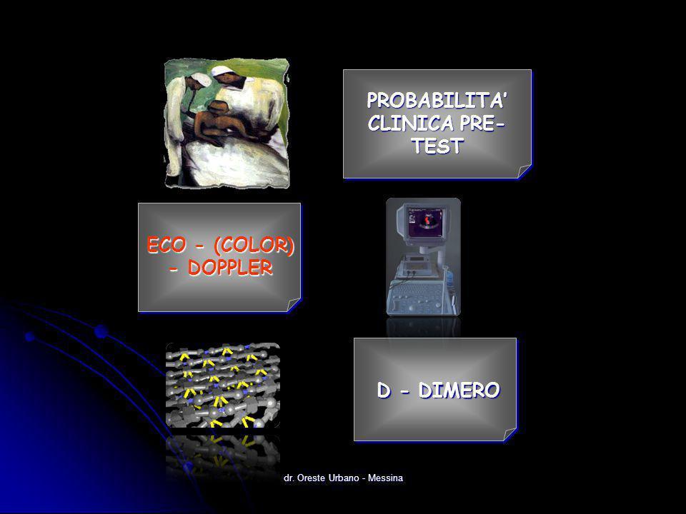 dr. Oreste Urbano - Messina PROBABILITA' CLINICA PRE- TEST ECO - (COLOR) - DOPPLER D - DIMERO