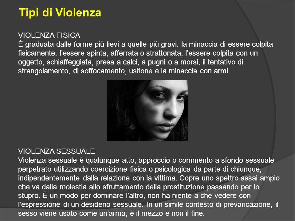 VIOLENZA SESSUALE Violenza sessuale è qualunque atto, approccio o commento a sfondo sessuale perpetrato utilizzando coercizione fisica o psicologica d
