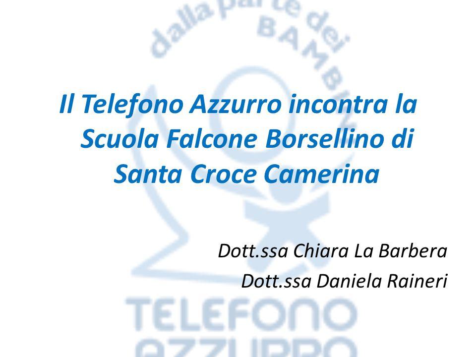 Il Telefono Azzurro incontra la Scuola Falcone Borsellino di Santa Croce Camerina Dott.ssa Chiara La Barbera Dott.ssa Daniela Raineri