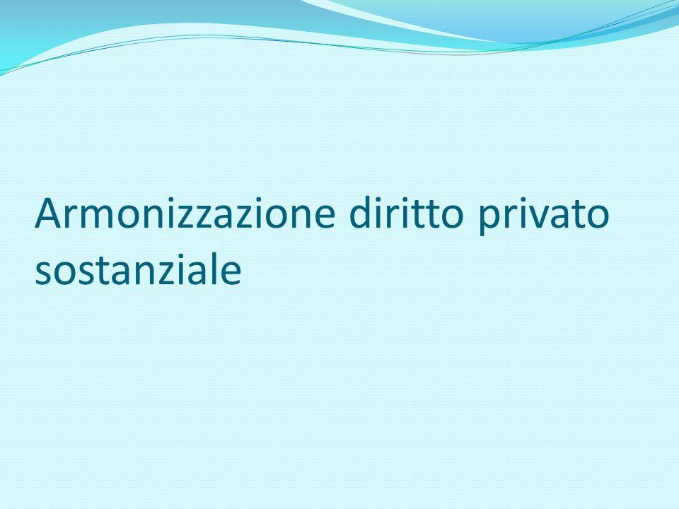 Armonizzazione diritto privato sostanziale