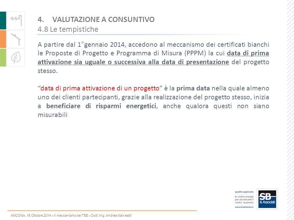 ANCONA, 16 Ottobre 2014 – Il meccanismo dei TEE – Dott. Ing. Andrea Malvestiti A partire dal 1°gennaio 2014, accedono al meccanismo dei certificati bi