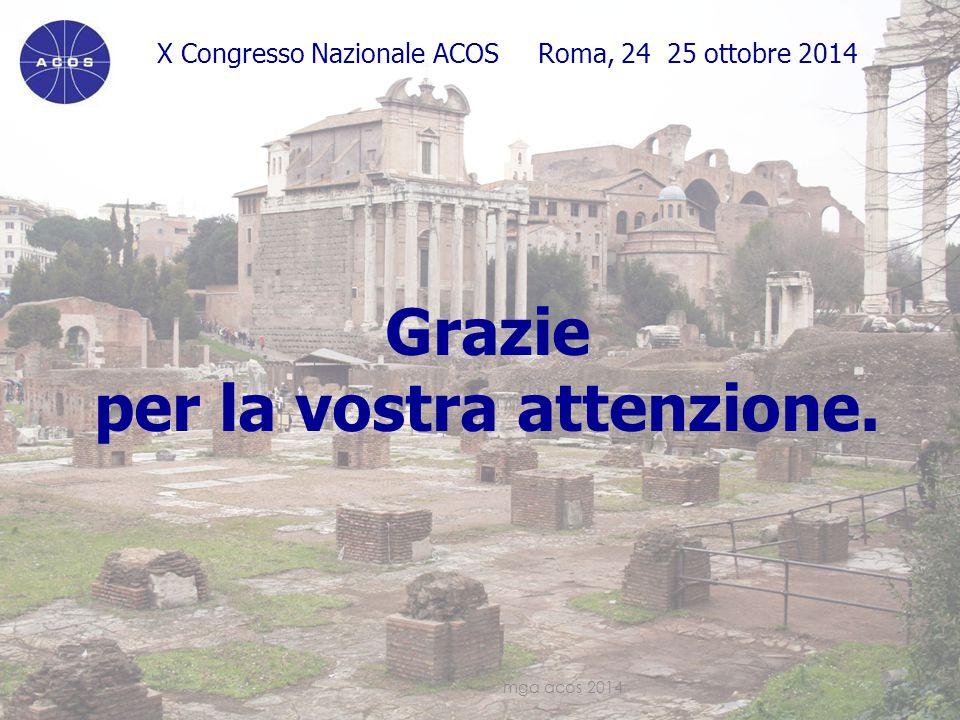 X Congresso Nazionale ACOS Roma, 24 25 ottobre 2014 Grazie per la vostra attenzione.