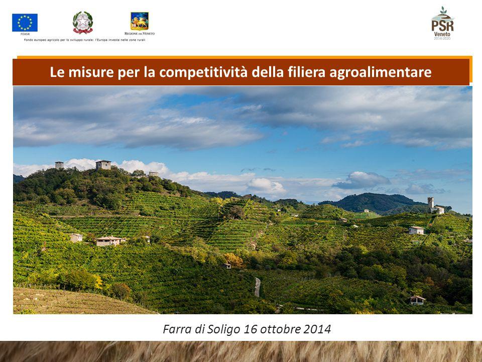 Le misure per la competitività della filiera agroalimentare Farra di Soligo 16 ottobre 2014