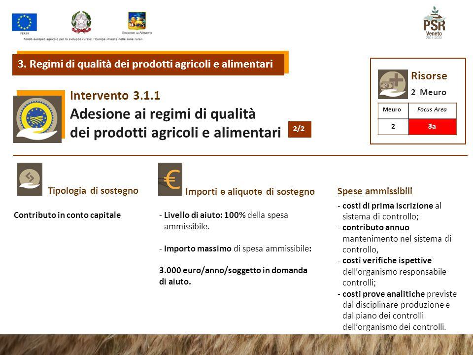 3.2.1Intervento Informazione e promozione sui regimi di qualità dei prodotti agricoli e alimentari 3.