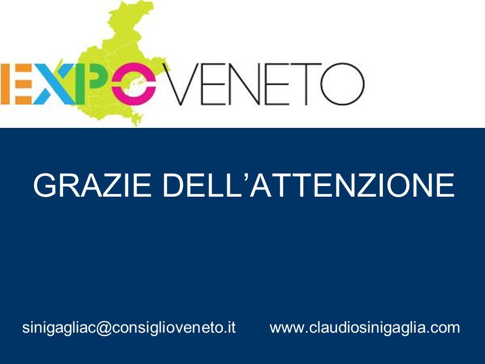 GRAZIE DELL'ATTENZIONE sinigagliac@consiglioveneto.it www.claudiosinigaglia.com