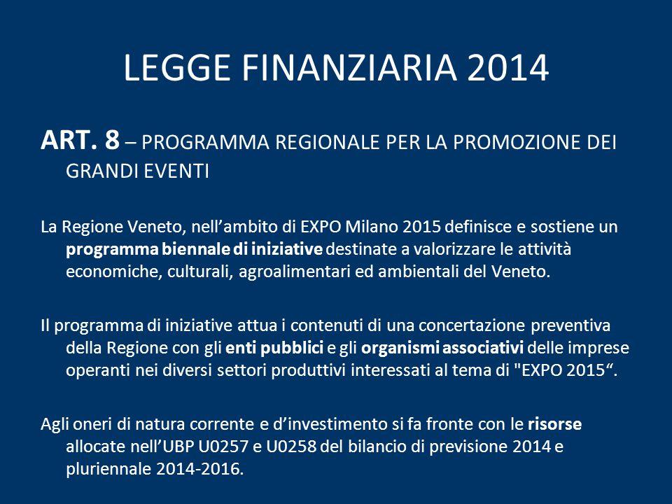 LEGGE FINANZIARIA 2014 ART.