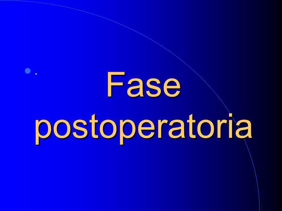 Fase postoperatoria.