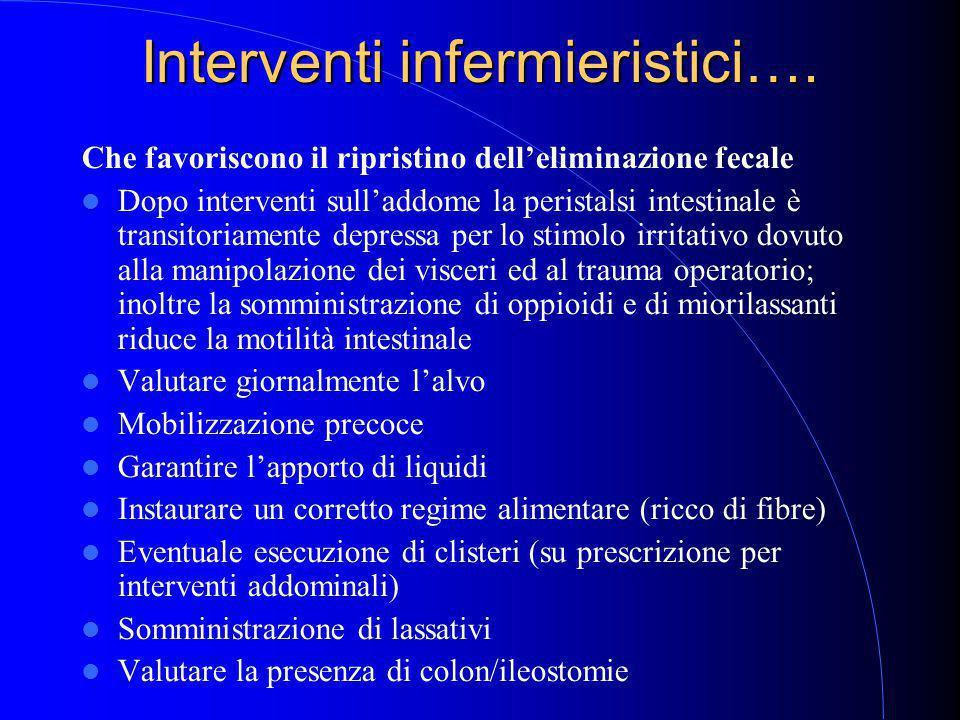 Interventi infermieristici….