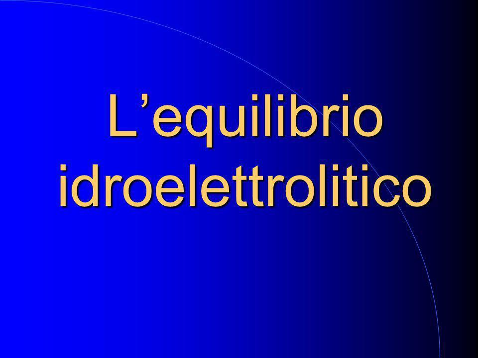 L'equilibrio idroelettrolitico