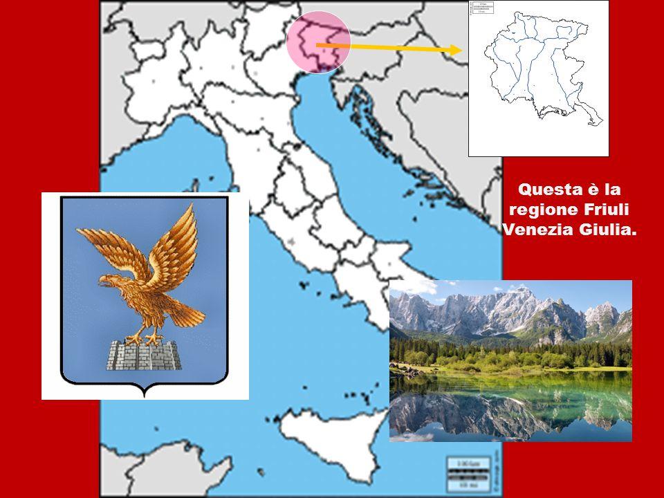 IL FRIULI VENEZIA GIULIA Questa è la regione Friuli Venezia Giulia.